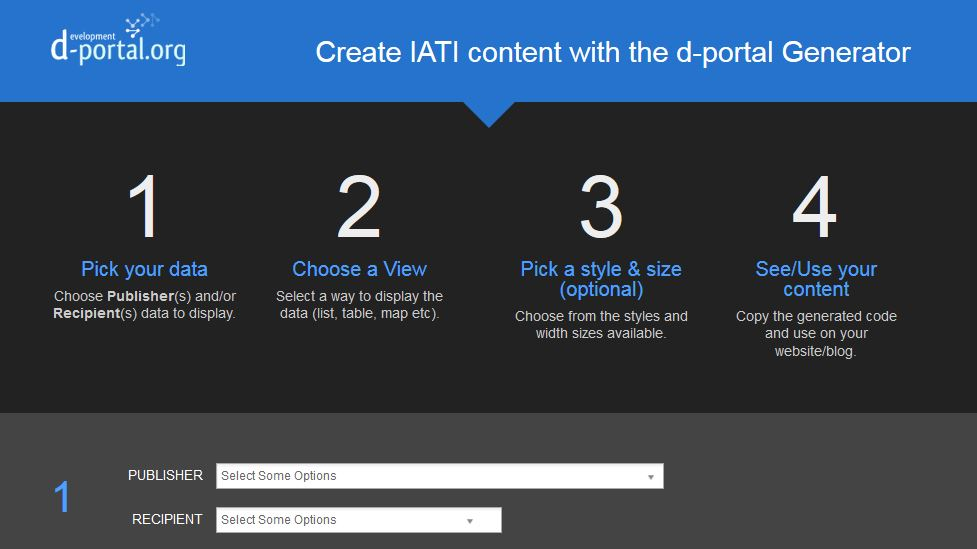 Bringing IATI data to life: d-portal generator | Development
