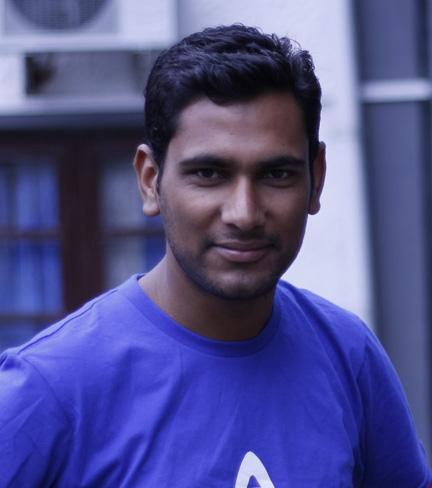 Prakash Neupane, ambassador of the Open Knowledge network local group in Nepal . Photo credit: Open Knowledge