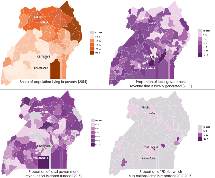 Figure 3.15: Infographic Maps - Districts with the highest poverty tend to have proportionally less resources
