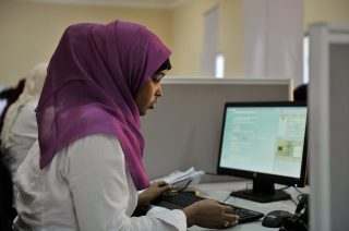 Set up by the regional administration in December last year and with funding from US Aid through the International Organization for Migration (IOM), a new center in Mogadishu has begun to issue biometric identification cards to Somali citizens. AU UN IST PHOTO / Tobin Jones